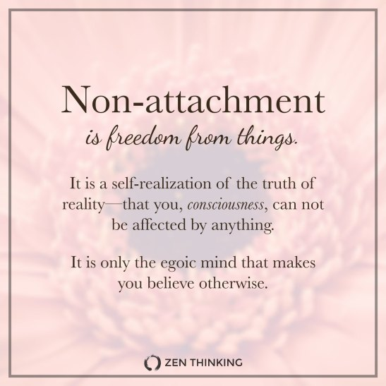 non attachment