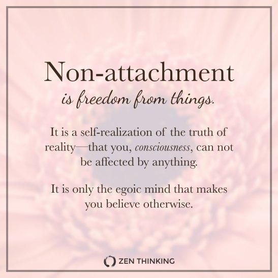 non attachment